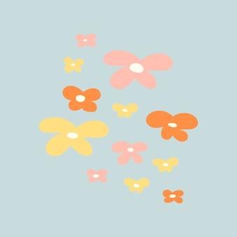 Pastellblume, niedliche frühlingsclipart-vektorillustration