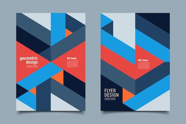 Pastellfarbe geometrische hintergrund-flyer-vorlage