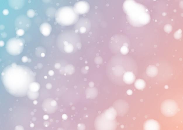 Pastellfarbe hintergrund mit weißen bokeh-lichtern
