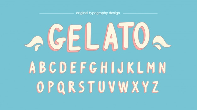 Pastellfarben cartoon typografie