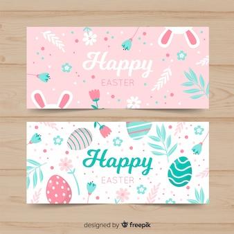 Pastellfarben-ostern-banner