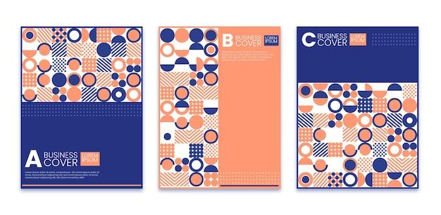 Pastellfarbene geometrische business-cover-kollektion