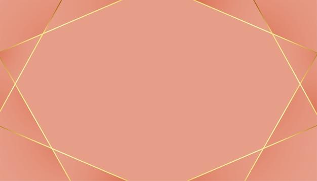Pastellfarbener hintergrund der niedrigen polygoldenen linien