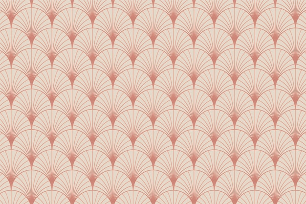 Pastellrosa gold art deco palmenmuster
