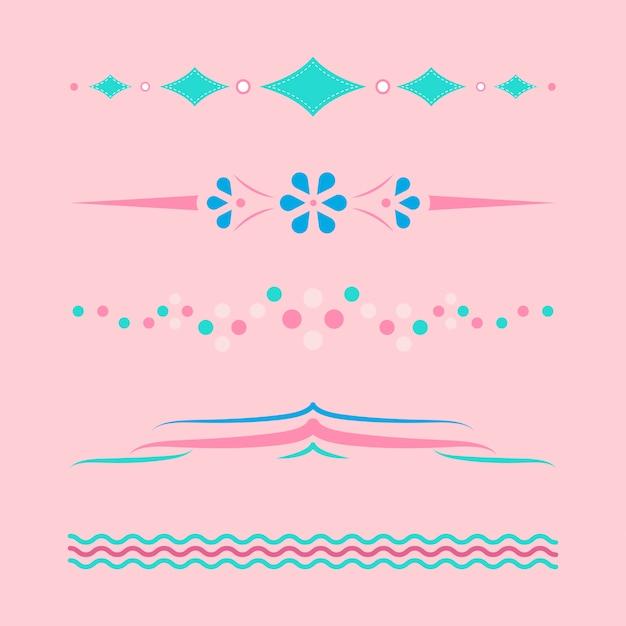 Pastellteiler entwerfen sammlungsvektor