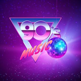 Paster vorlage für disco party 90er jahre illustration