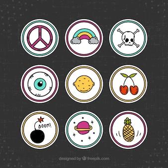 Patches mit lustigen symbolen