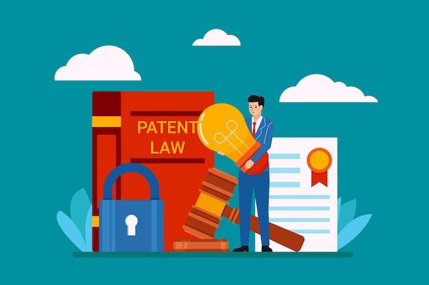Patentrechtliche darstellung