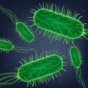 Pathogene bakterien, viruszellen oder gefährlich