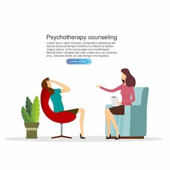 Patient bei der psychiatrie-beratung