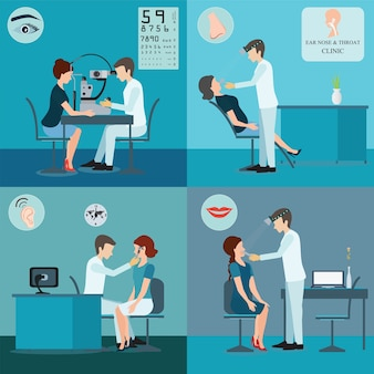 Patient und doktor set.