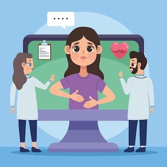 Patientin im desktop