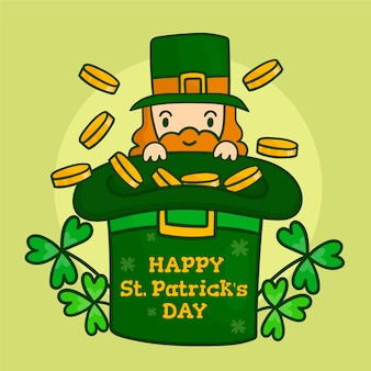 Patrick's day event mit klee und goldmünzen