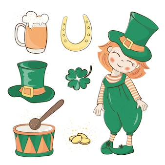 Patrick's holiday st. patrick's day-vektor-illustration