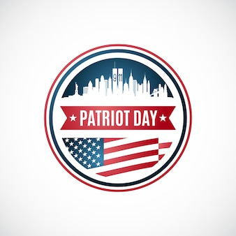 Patriot day abzeichen vorlage.