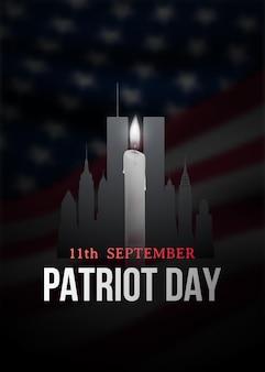 Patriot day poster mit kerze