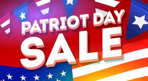 Patriot day rabatt banner vorlage. großes verkaufsbanner.