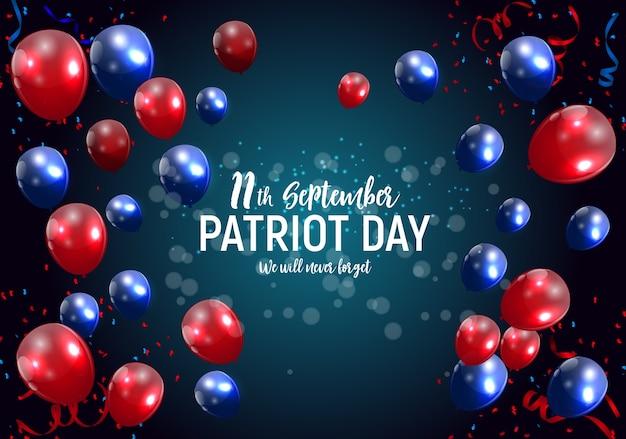 Patriot day usa poster hintergrund. 11. september