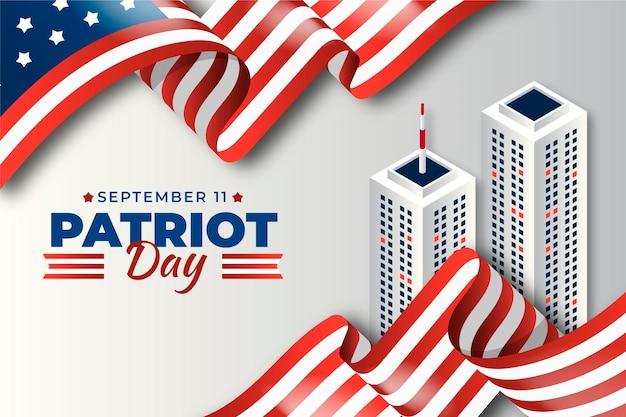 Patriot tag hintergrund mit farbverlauf 9.11