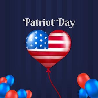 Patriot-tag mit amerikanischen ballons
