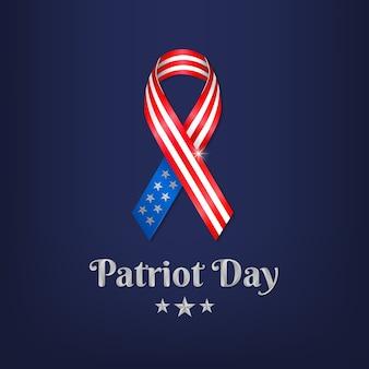 Patriot-tag mit amerikanischen krawatten