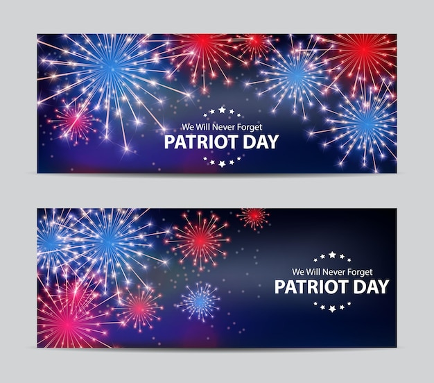 Patriot-tageshintergrund. 11. september poster. wir werden niemals vergessen. vektor-illustration eps10