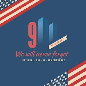 Patriotentag, nationales denkmal vom 11. september.