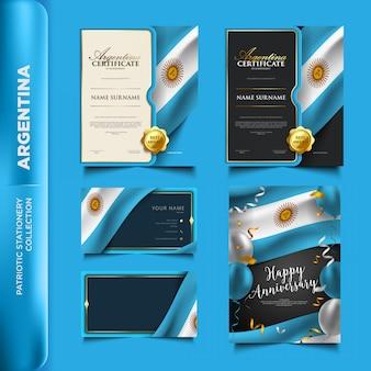 Patriotische briefpapiersammlung argentiniens