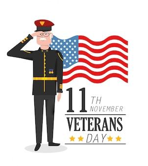 Patriotische feier des veteranen-tages des militärs