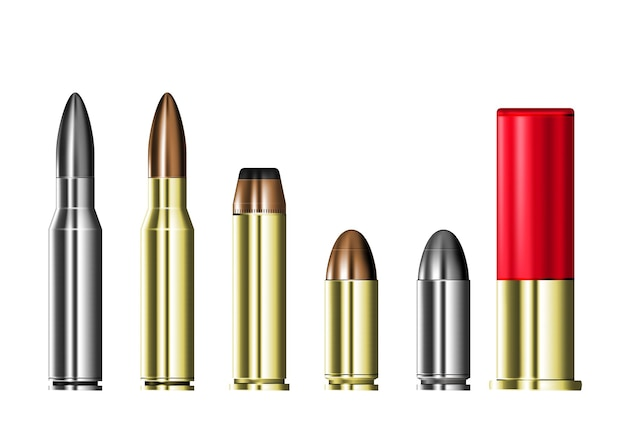 Patronenhülsen mit kugeln