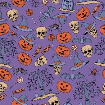 Patten mit kürbissen für halloween.