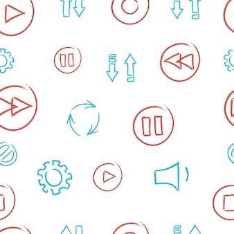 Pattern-player-symbole. vektor-illustration.