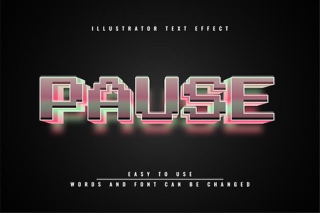 Pause - bearbeitbares texteffektdesign