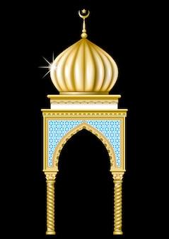 Pavillon im orientalischen stil