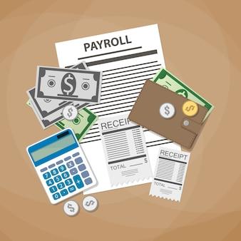 Payroll rechnung konzept