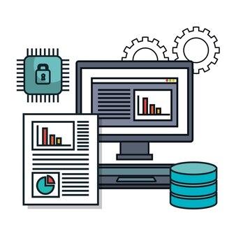 Pc computer datenbank dokument isoliert