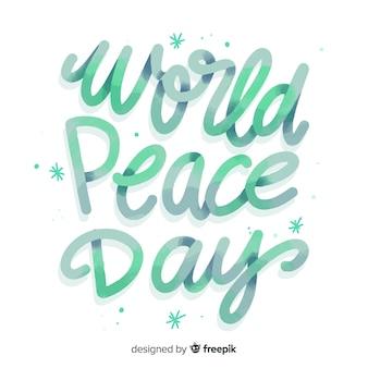 Peace day schriftzug farbverlauf