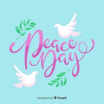 Peace day schriftzug veranstaltung