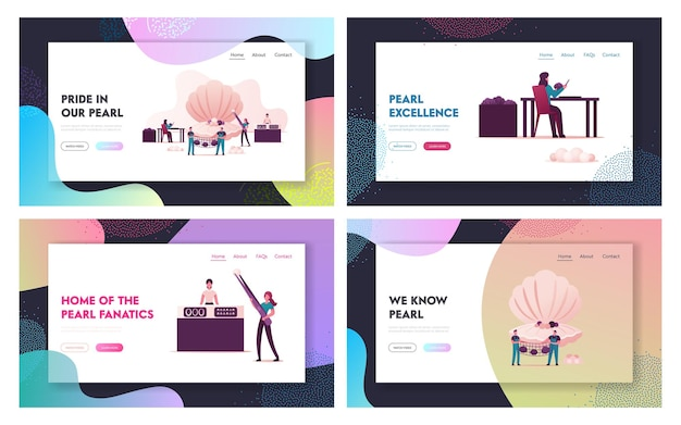 Pearl farm landing page template set.