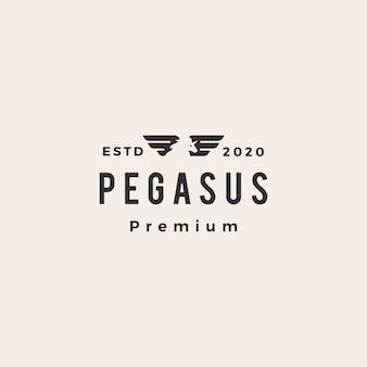 Pegasus einhornflügel hipster vintage logo symbol illustration