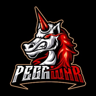 Pegasus wütend esport logo team