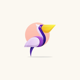 Pelikan-konzeptabbildung-vektorschablone
