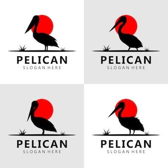 Pelikan-logo-design-vektor