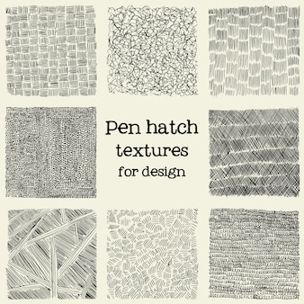 Pen luke grunge texturen gesetzt