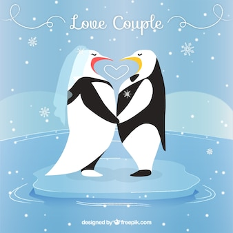 Penguins in love