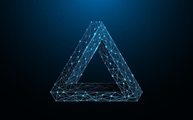 Penrose-dreieck-formlinien