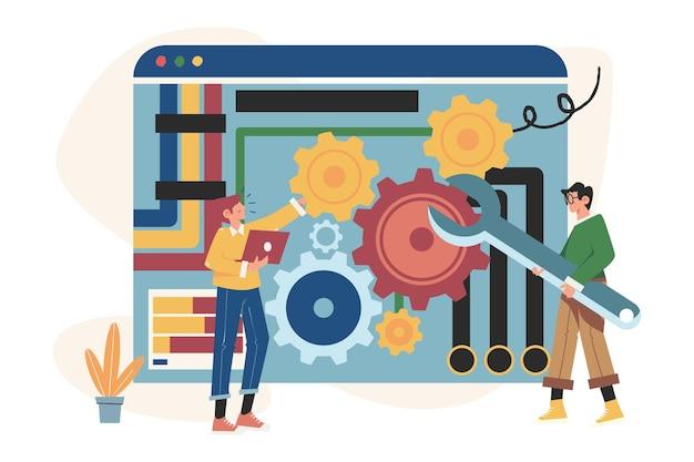 People links von mechanismen, geschäftsmechanismen, unternehmensförderung, strategieanalyse