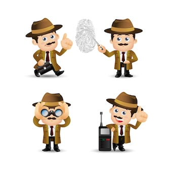 People set - beruf - detektiv