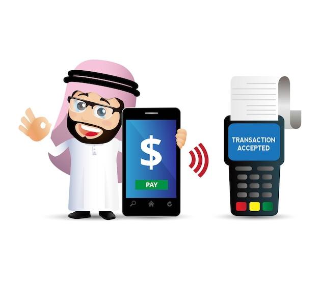 People set mobil zahlungsillustration