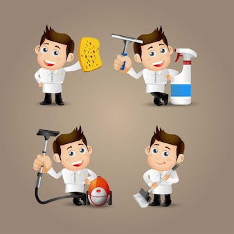 People set profession cleaner